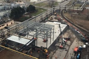 RED-Rochester Gas Conversion Project at Eastman Business Park - Steel Beam Additions, view from B-321 roof 2