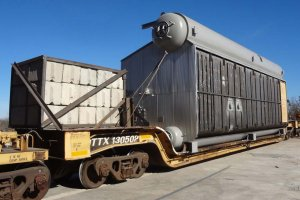 RED-Rochester Gas Conversion Project at Eastman Business Park - new boiler on the rail car