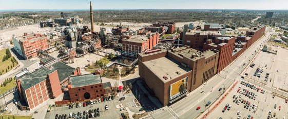 RIT Student documents Eastman Business Park with large-format film photography