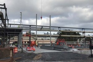 RED-Rochester Gas Conversion Project at Eastman Business Park - Steel Beam Additions, I-beams starting to go up