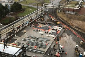 RED-Rochester Gas Conversion Project at Eastman Business Park - Steel Beam Additions, view from B-321 roof